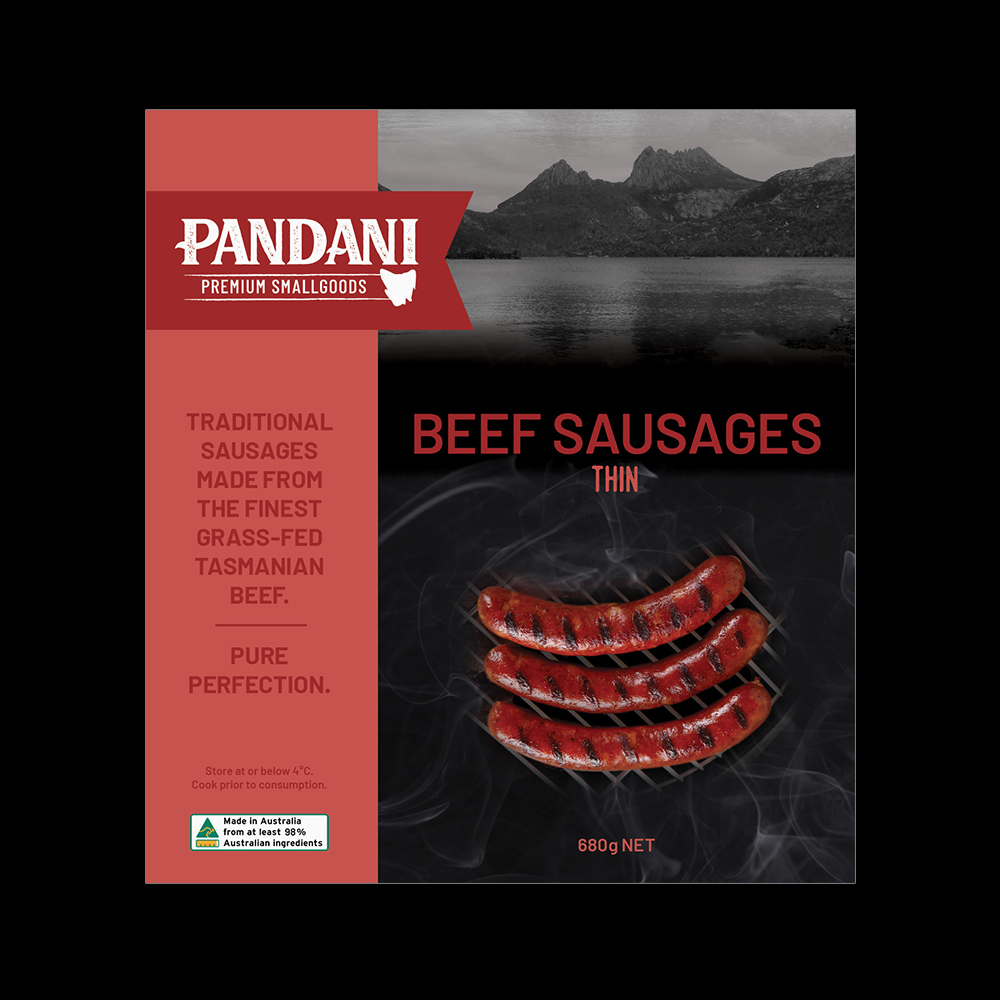 Beef Sausages, Thin
